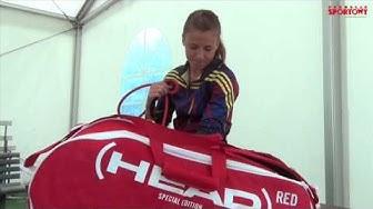 Alicja Rosolska - tennis bag check