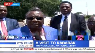 Francis Atwoli and Eugene Wamalwa paid a courtesy call to former president Daniel Arap Moi