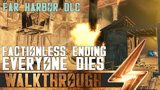 Fallout 4: Far Harbor Best Ending - Everyone Dies! (And you get a perk too!)