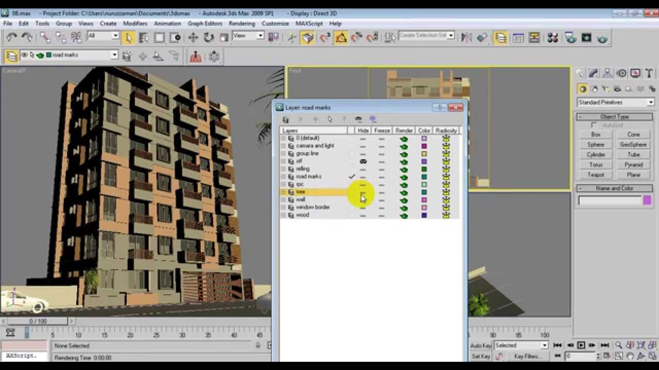 3Ds Max Elevation Convert to 2D CAD Elevation