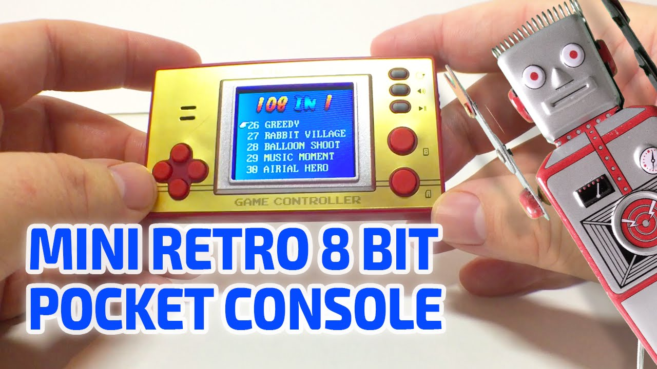 MINI RETRO POCKET GAMES CONSOLE!