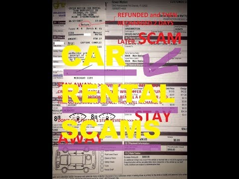 ▶️Car Rental Scams, How To Protect Yourself At Car Rental Agency, Hertz / Avis / Green Motion