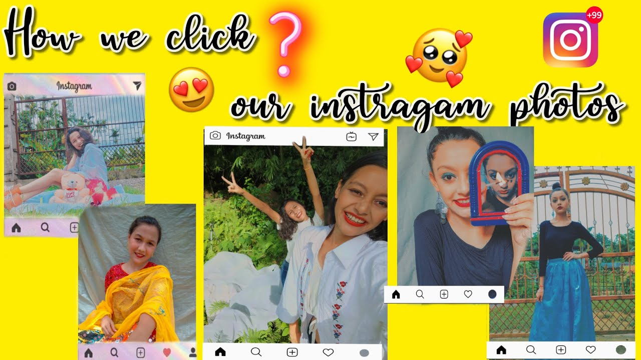    HOW WE CLICK OUR INSTAGRAM PHOTOS    TWO SHARMA SISTER ...