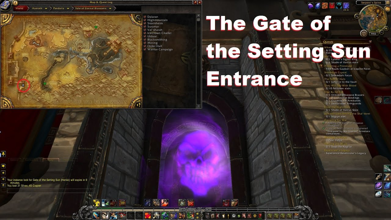 world of warcraft the gate of the setting sun entrance youtube. Black Bedroom Furniture Sets. Home Design Ideas