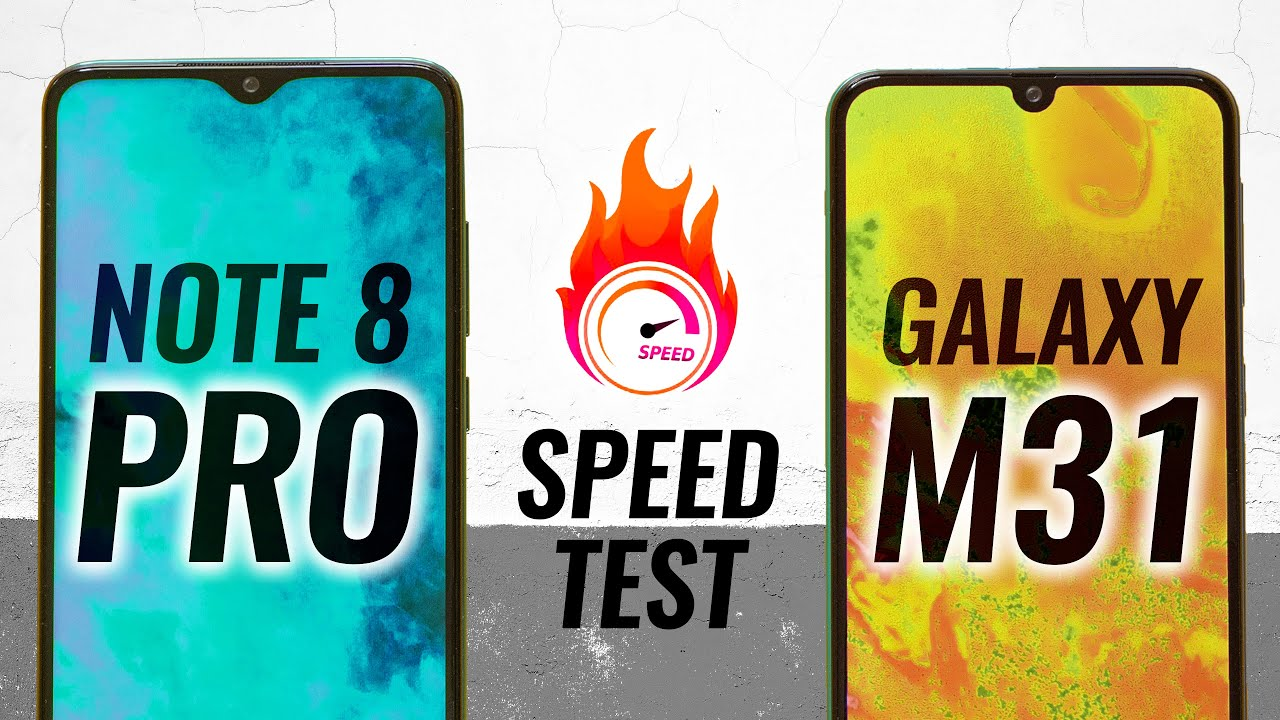 Samsung M31 vs Redmi Note 8 Pro Speed Test - One Sided Contest?