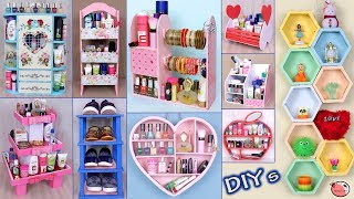 10 DIY's Room Organizer Idea || Cardboard Crafts !!! DIY Projects