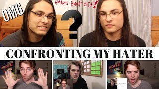CONFRONTING MY HATER I OUR REACTION! // TWIN WORLD