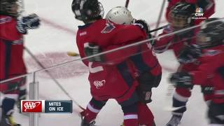 Mini Ovechkin scores then performs awesome celebration