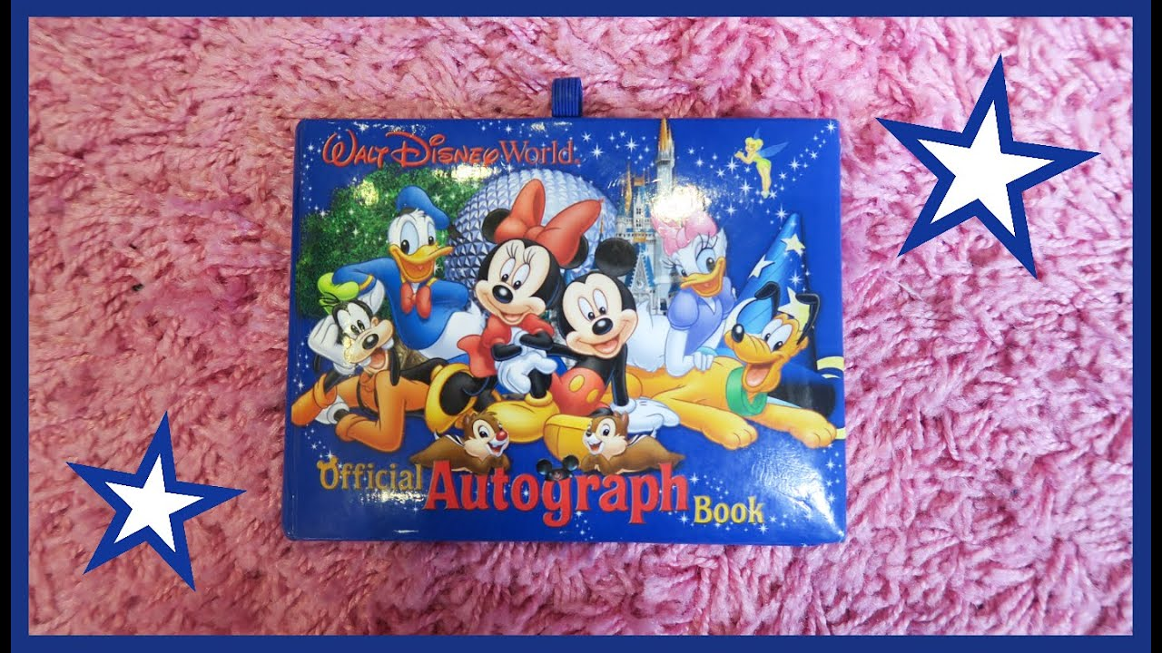 how to make an autograph book for disney