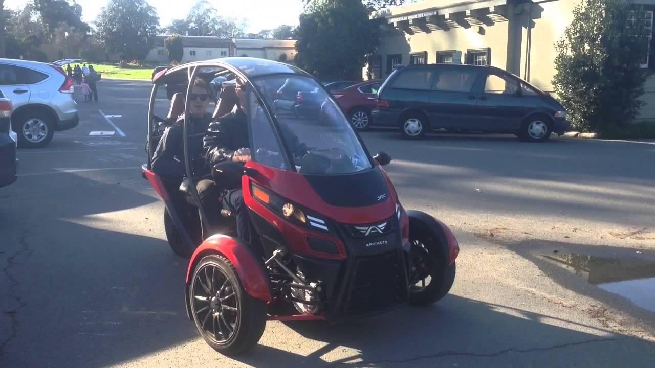 Highway Legal Electric Trike Arcimoto Srk Gen 8