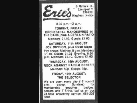 Joy Division Glass Eric's Liverpool 11.08.1979 mp3