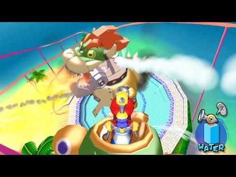 Super Mario Sunshine: All Bosses in HD (4K 60fps)