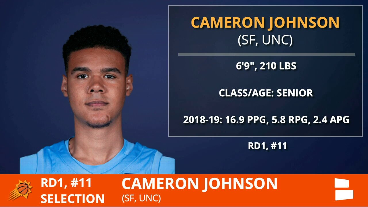 Suns select UNC's Cam Johnson No. 11 in 2019 NBA Draft