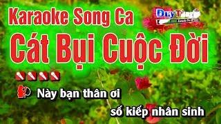 Karaoke || Cát Bụi Cuộc Đời Song Ca || Nhạc Sống Duy Tùng
