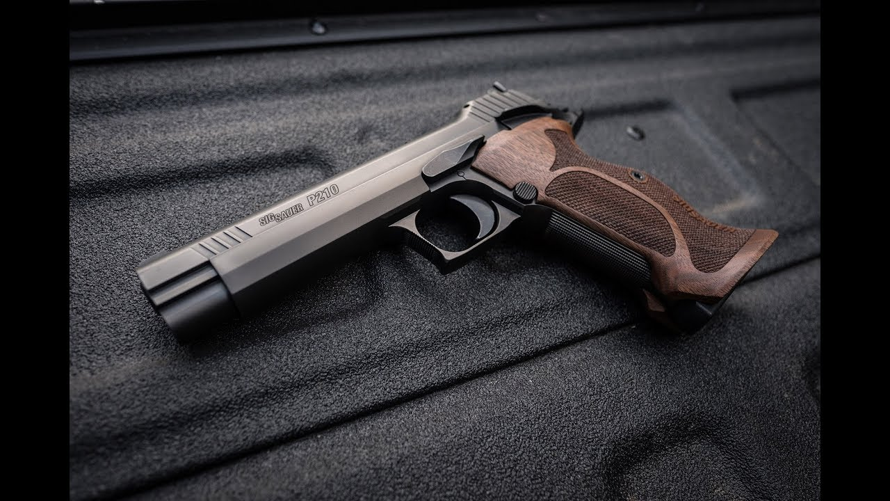 Sig Sauer P210 Target 9mm Pistol Wood Grips Palmetto State Armory