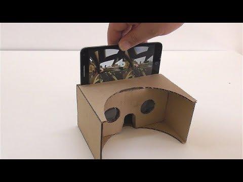 Как сделать очки виртуальной реальности из картона