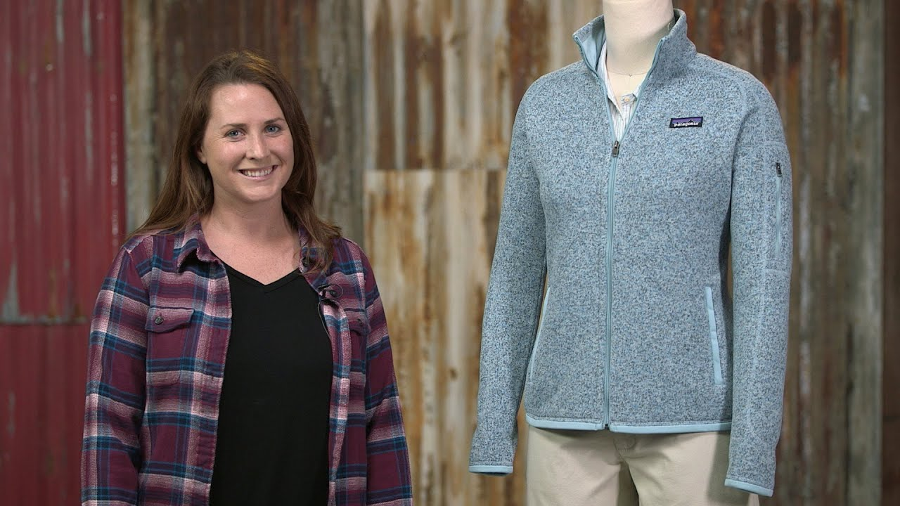 Patagonia Womens Better Sweater Fleece Jacket Youtube
