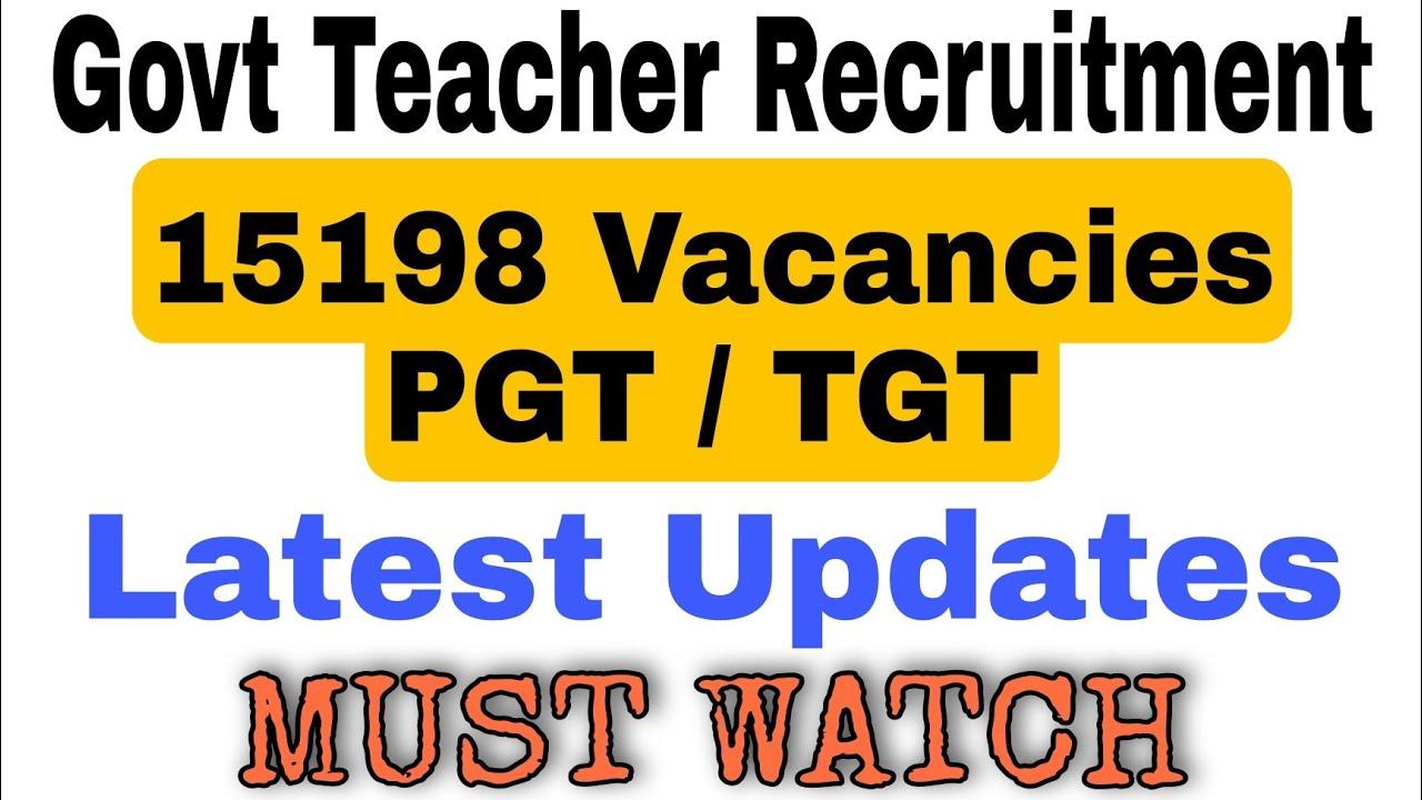 15198 Govt Teacher Recruitment 2021 | Latest Updates | Check Full Details  ||Teacher Bharti 2021 - YouTube