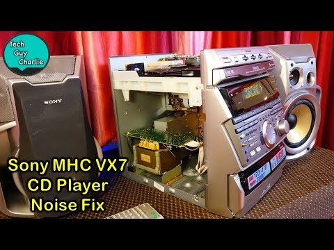 How I fixed the Sony Mini HiFi CD player grinding noise and a look inside the system