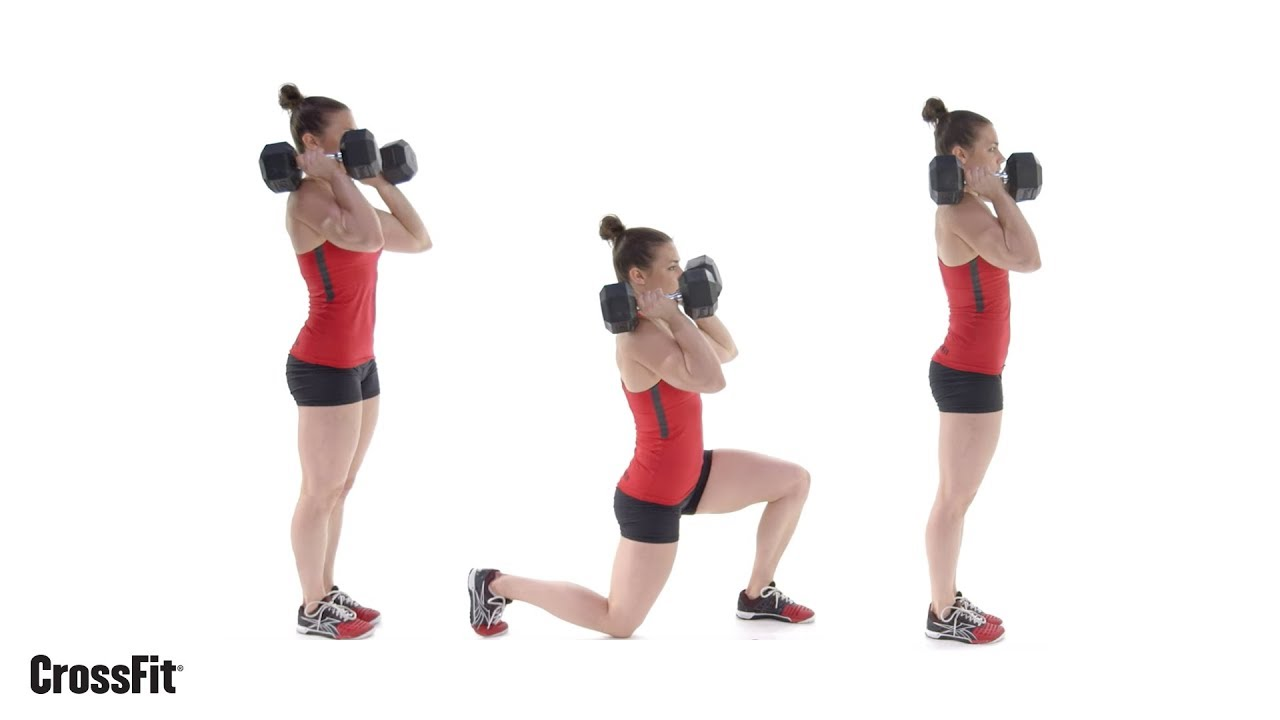 Wods Crossfit Training Workouts For Beginners Wod The Dumbbell Front Rack Lunge Games
