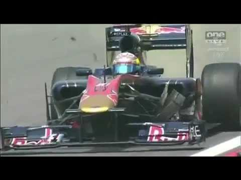 Formel 1 Shanghai 2010 - Sebastien Buemi's Massive Crash at 300km/h