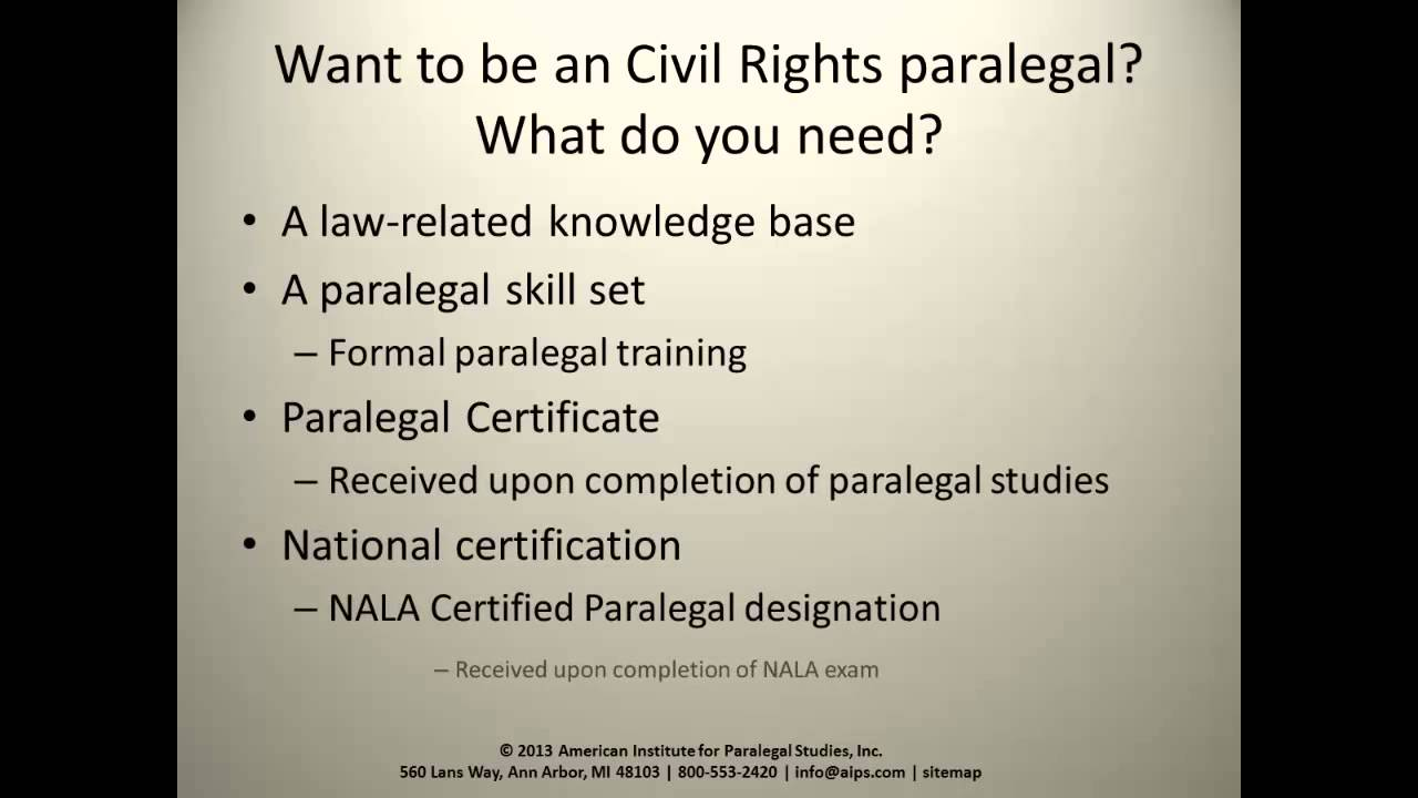 The role of the civil rights paralegal youtube the role of the civil rights paralegal 1betcityfo Image collections