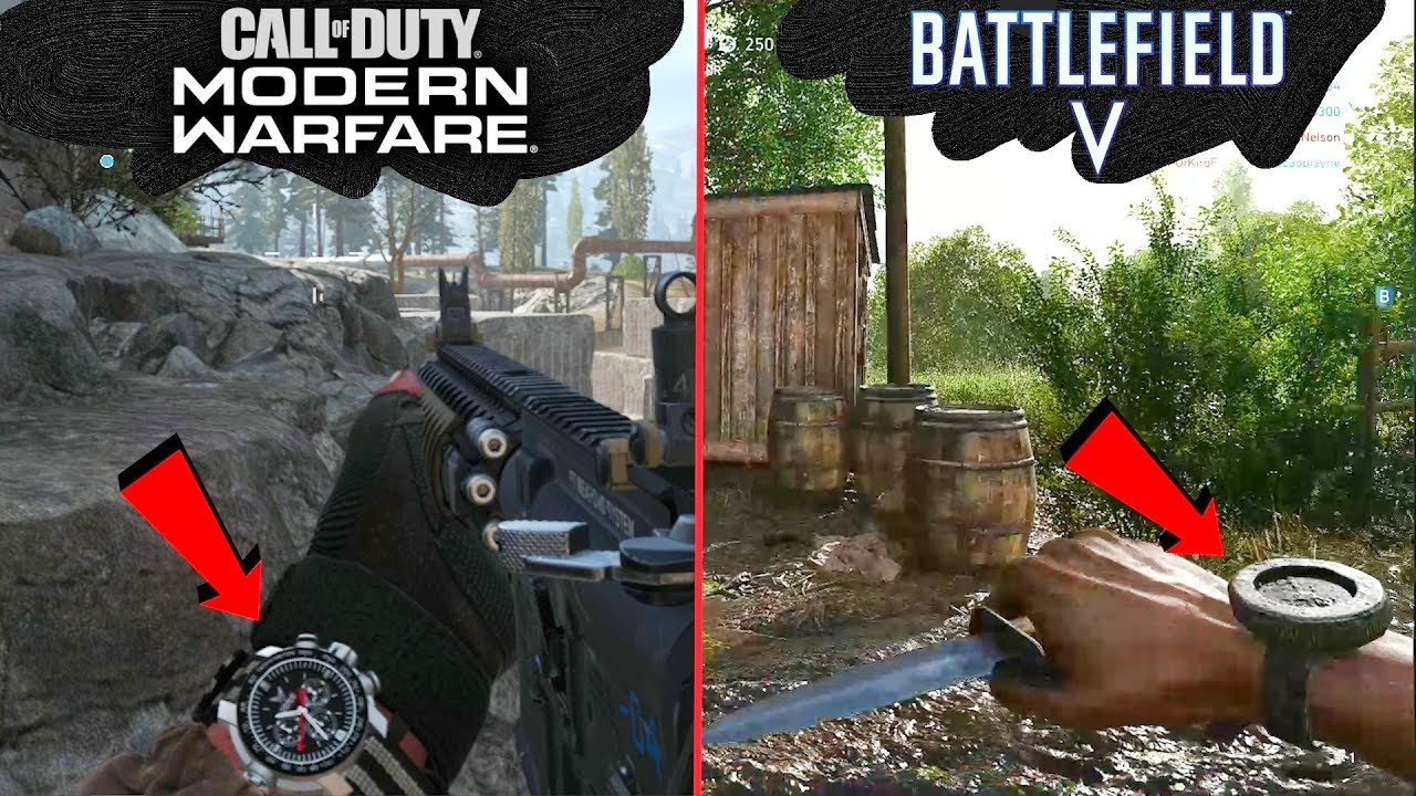 Cod Modern Warfare Vs Battlefield 5 Attention To Detail