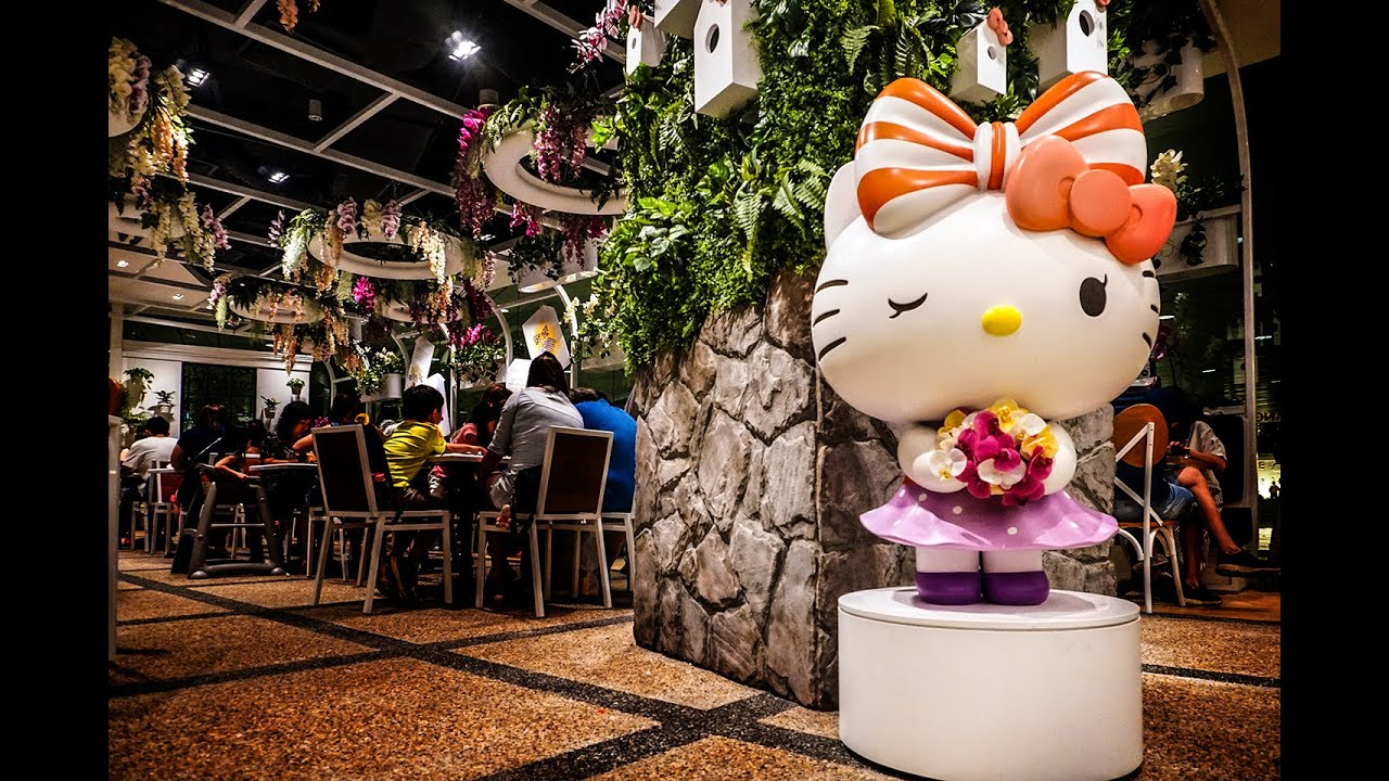 Hello Kitty Cafe Singapore Orchid Garden At Changi