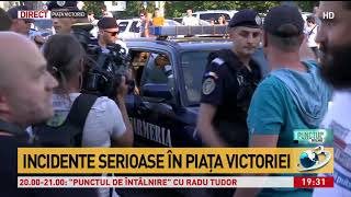 Incidente la mitingul din Piața Victoriei