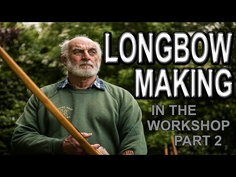 Today in the Longbow workshop, making a yew bow part 2