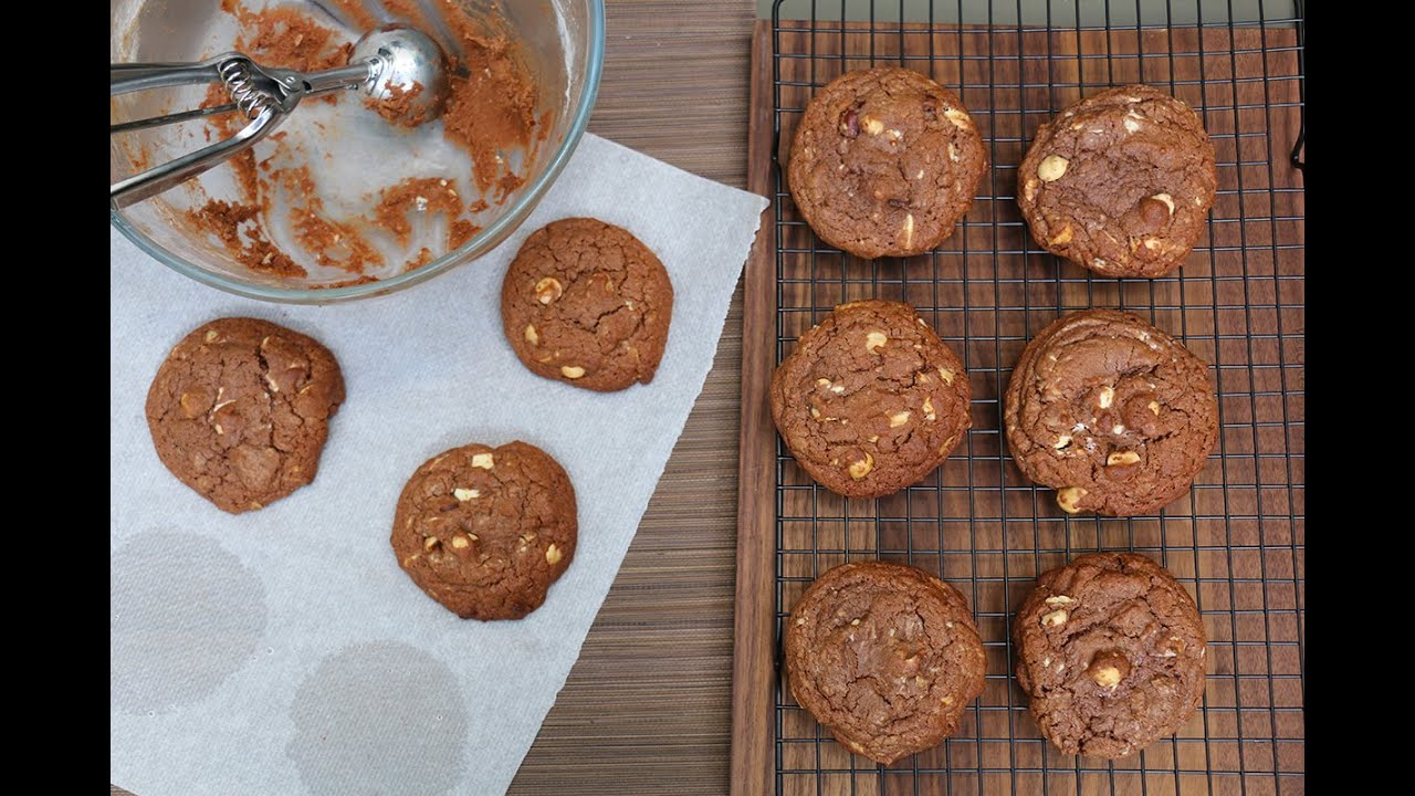 Comment r ussir des cookies moelleux au chocolat noisette - Recette cookies chocolat moelleux ...