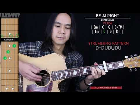 Be Alright Guitar Cover Acoustic - Dean Lewis 🎸 |Tabs + Chords|