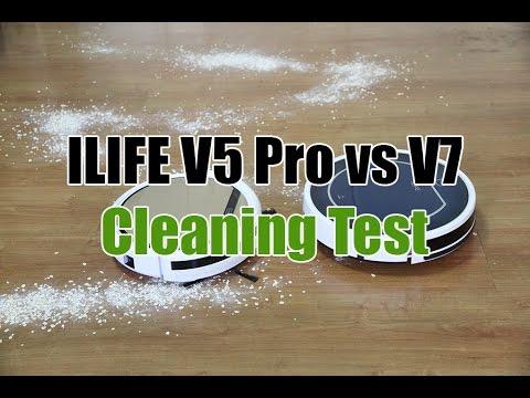 ILIFE V7 vs V5 Pro Robot Vacuum Cleaning Test