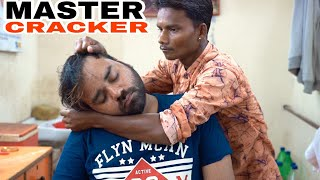MASTER CRACKER  HEAD MASSAGE WITH NECK CRACKING #MASTERCRACKER #INDIANBARBER