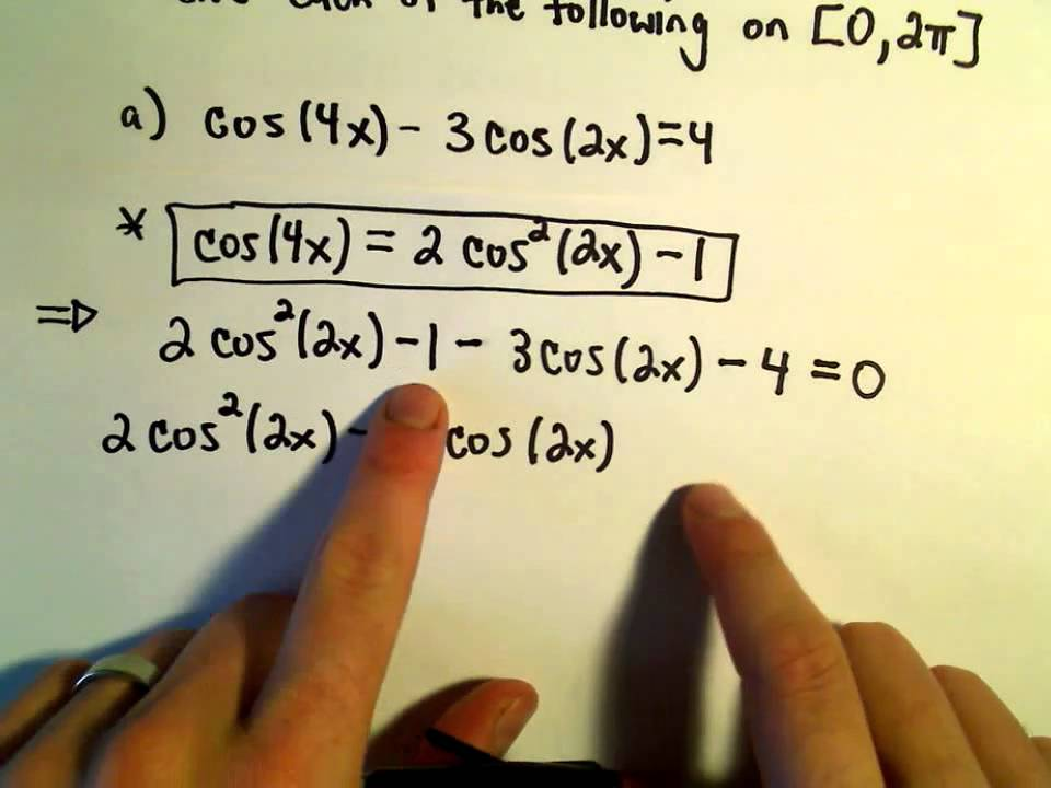 Using Double Angle Identities To Solve Equations Example 1 Youtube