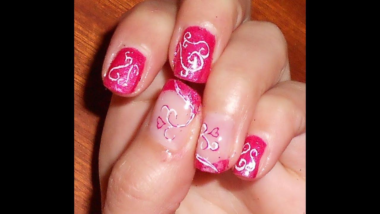 Nail art san valentino semplice e veloce con smalti glitter e decori in micropittura youtube - Decori per san valentino ...