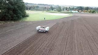 Setí pšenice robotem Robotti