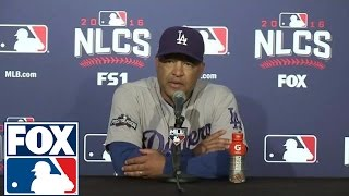 Dave Roberts after NLCS loss to Cubs: They outplayed us this series | 2016 NLCS | FOX SPORTS