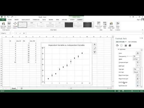 how to change the x and y axis in excel 2007 when creating