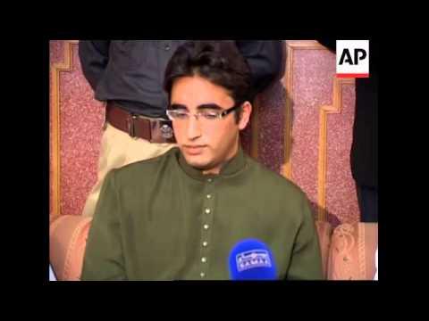 Benazir Bhutto's son comments on Musharraf resignation