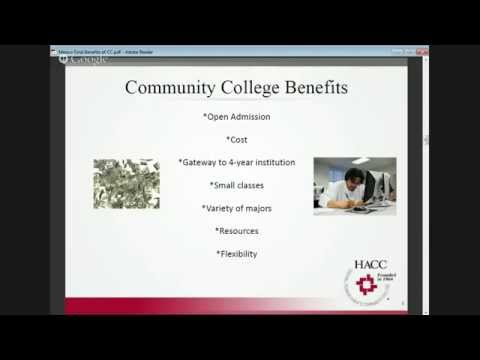 Benefits of a Community College with HACC-Central Pennsylvania's CC