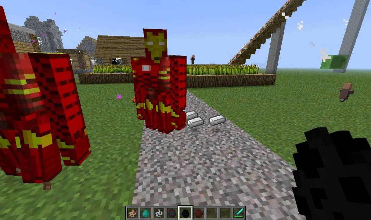 Iron golem to iron man minecraft youtube - Minecraft golem de diamant ...