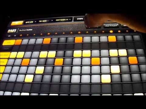 Me playing iPad mini and DM1 and Bassline
