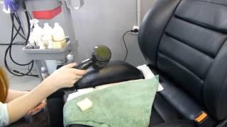 видео ремонт кожаных сидений автомобиля