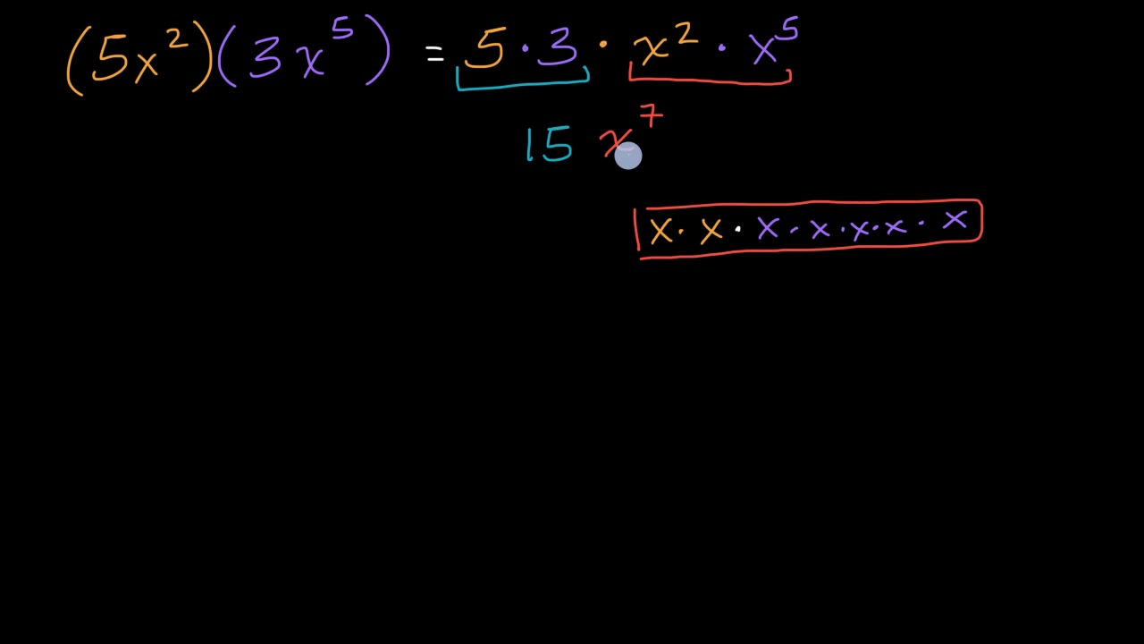 small resolution of Multiplying monomials (video)   Khan Academy