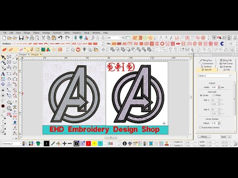 How To Create An Embroidery Design Youtube