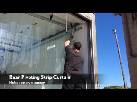 Randall Temp Control Rear Strip Trailer Curtain