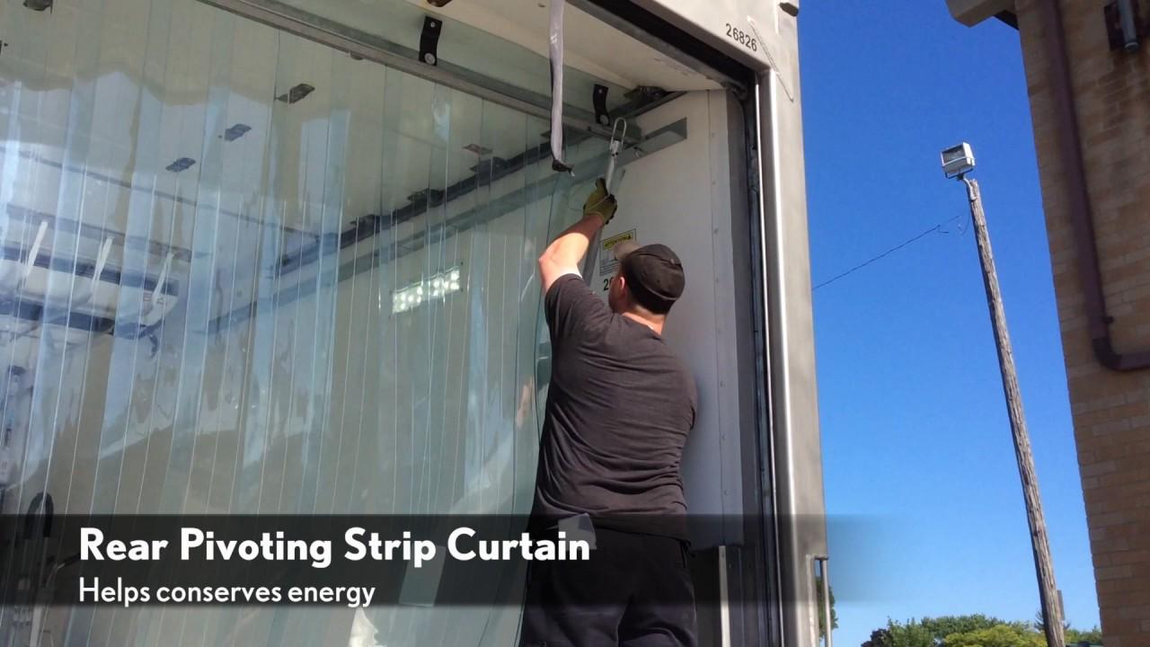 Randall Temp Control Rear Strip Trailer Curtain Youtube