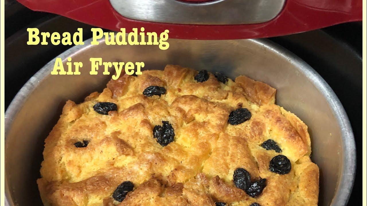 puding roti bread pudding  minutes   air fryer mmx  resepi sos kastard yg melenakan Resepi Puding Roti Air Fryer Enak dan Mudah