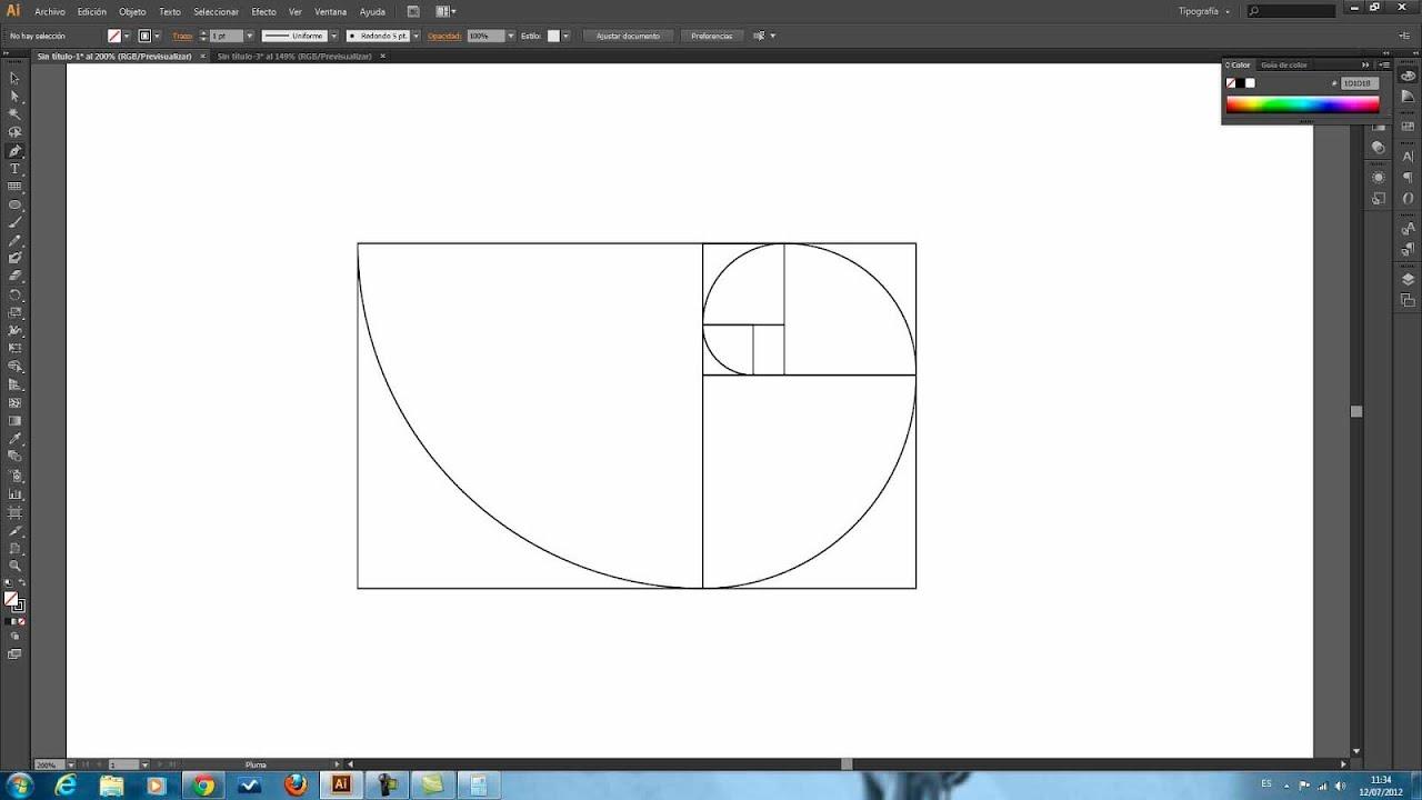 Tutorial Illustrator // Rectángulo Áureo // - YouTube